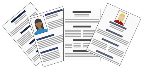 Illustration of four different CVs