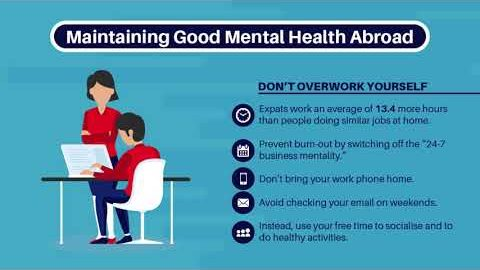 Maintaining good mental health abroad