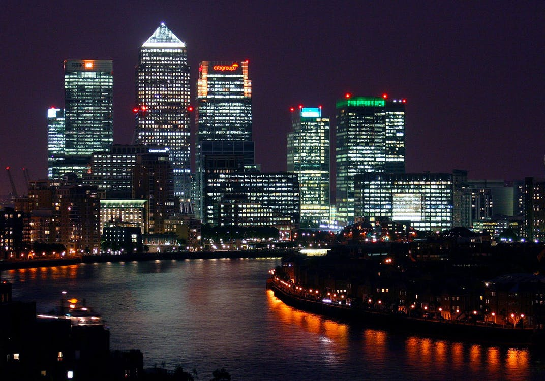 Canary Wharf in London, UK